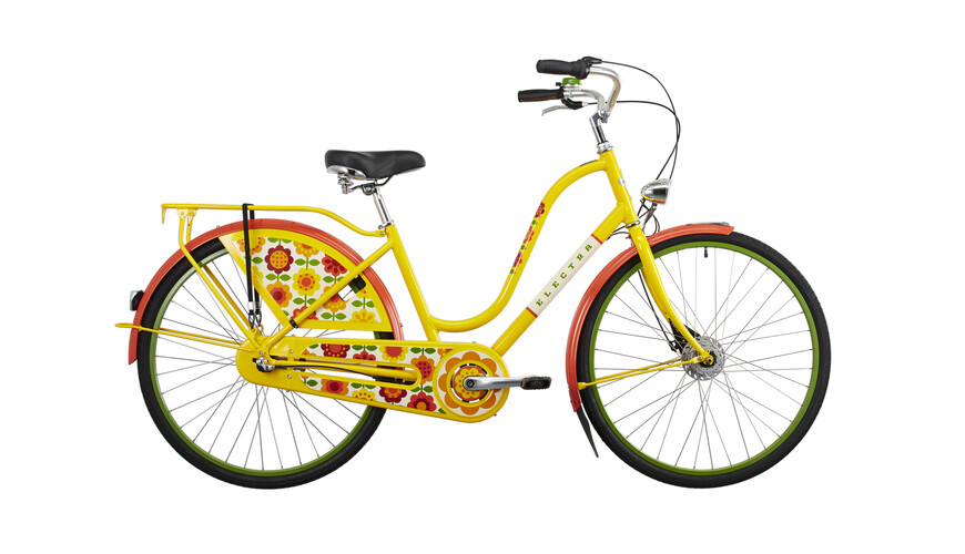 Electra Amsterdam Fashion 3i Stadsfiets Dames Ladies geel/bont